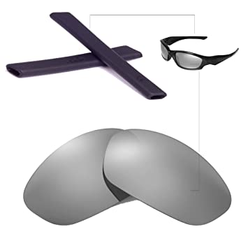 04bc40c18d Walleva Replacement Lenses + Rubber for Oakley Straight Jacket - Multiple  Options (Titanium Polarized Lenses