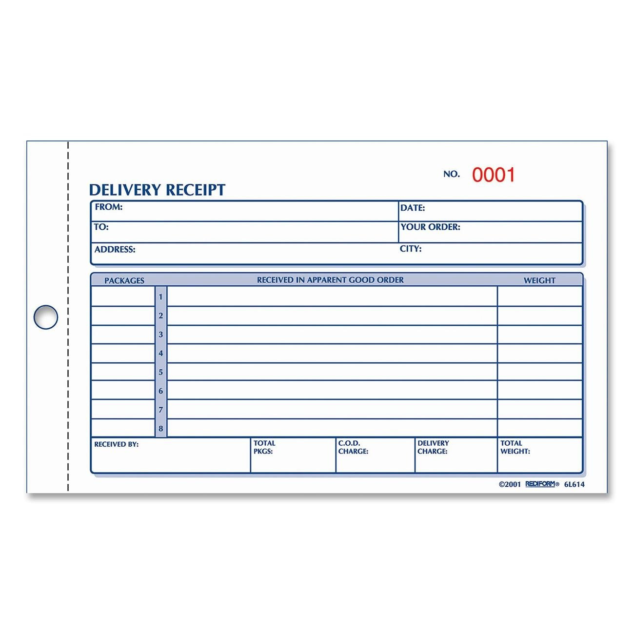 Amazon REDIFORM Delivery Receipt Book Carbonless 425 x – Payment Receipt Book
