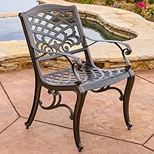 Best Selling Home Decor Furniture Octavia Outdoor Bistro Arm Chair Set Of 2