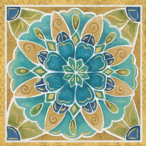 Free Bird Mexican Tiles IV by Daphne Brissonnet Art Print, 14 x 14 inches