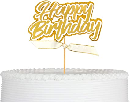 First Birthday Party Decorations 1st Birthday Cake Topper One with Stars Cake Topper Qttier Gold