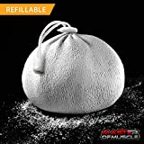 Master of Muscle - Chalk Bag Ball - Perfect for Rock Climbing, Weight Lifting, Gym, Workout, Gymnastics, and Powerlifting - Includes...