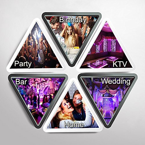 Party Lights + Disco Ball GOOLIGHT Dj Disco Lights LED Stage Light Projector Strobe lights Sound Activated with Remote Control for Xmas Club Bar KTV Holiday Dance Christmas Birthday Home Decoration by GOOLIGHT (Image #6)