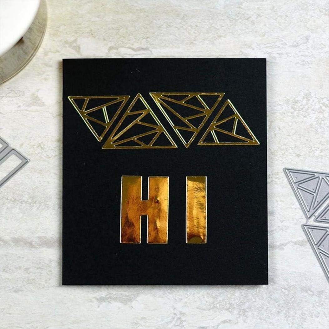 Maserfaliw Cutting Dies Stencils Hollow Triangle Background for DIY Scrapbooking Photo Album Card Decor