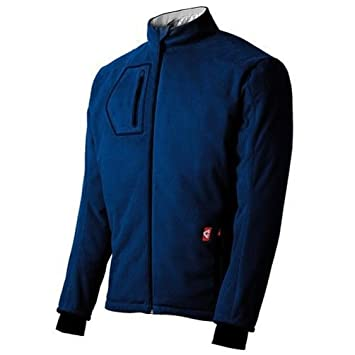 Gerbing Mens Mountain Sport Fleece Heated Jacket Blue (Small)