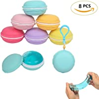 FUNCOCO 8 Pcs Crystal Slime Putty Macaroon kit Jelly Diy Toy Mud Clay Soft Squishies Pudding Toy For Kids Education Gift