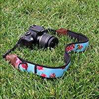 DSLR Camera Strap Shoulder Neck with Comfortable Neoprene Design and Accessory Storage Pockets - Works With Canon , Fujifilm , Nikon , Sony and more SLR , Mirrorless , Point & Shoot Cameras from USA Gear