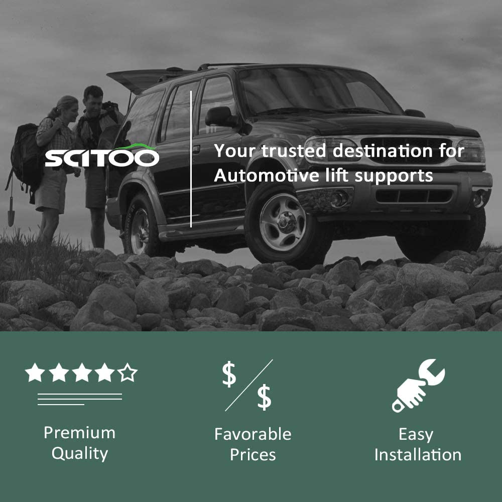 SCITOO Rear Liftgate Hatch Tailgate Lift Supports Struts Gas Springs Shocks fit 2005-2013 Nissan Pathfinder