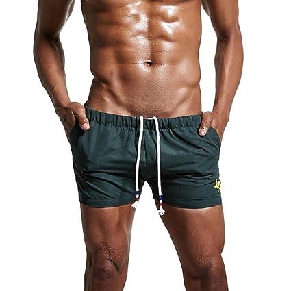 YanHoo ❤ Traje de baño, Pantalones cortos de baño transpirable para hombre Pantalones cortos