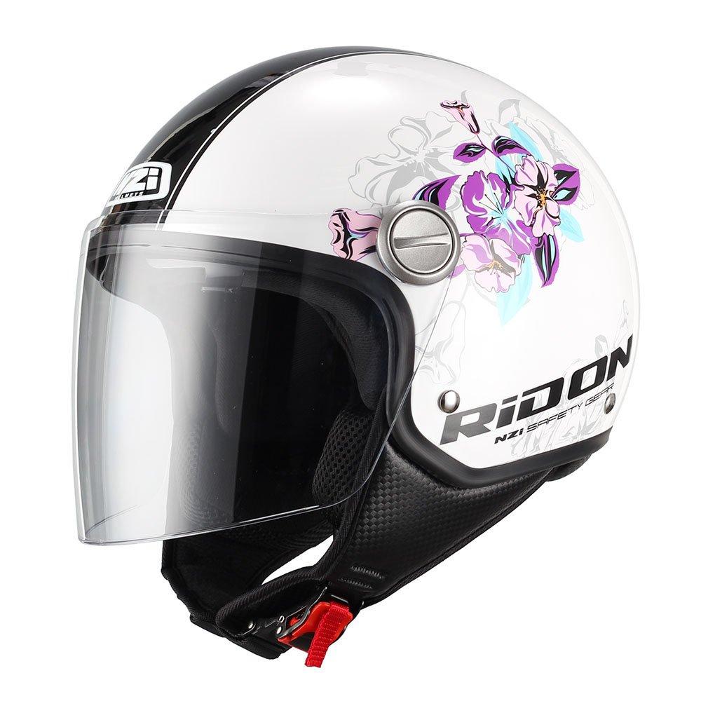NZI 150262G860 Capital Visor Graphics Bloom Casco de Moto, Talla M(57-58)