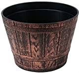 Fancy Whiskey Barrel Victorian Rustic Look 10X8 inches Flowerpot / Planter for Nursery Indoor, Outdoor, Garden Patio Office Ornaments Home Decor Use Long Lasting Reusable Light Weight (Copper-S)