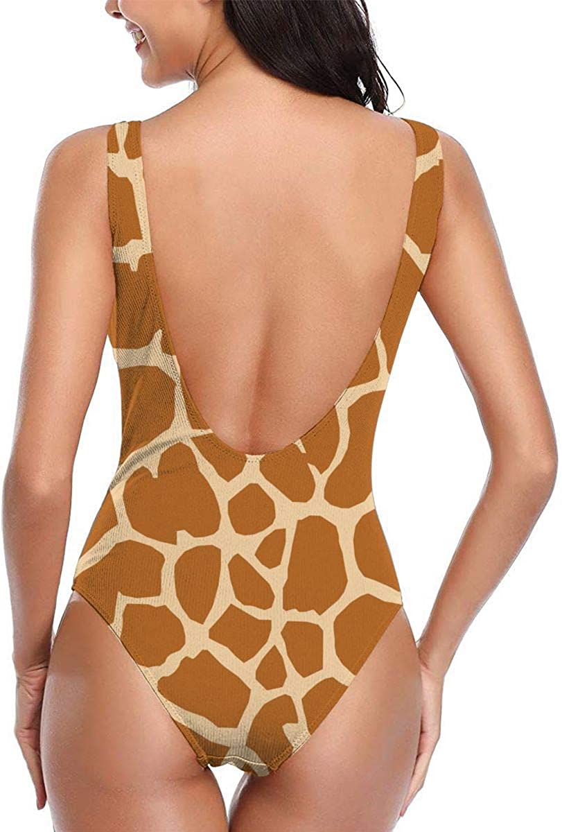 One Piece Swimsuit Bathing Suit Unique Floral Pattern Printing Giraffe