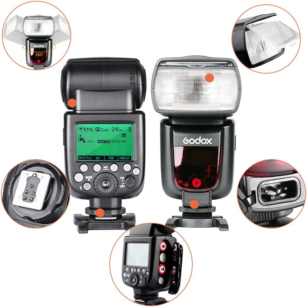 GODOX TT685F TTL Camera Flash with X2T-F Trigger 2.4G GN60 HSS 1//8000S Flash Speedlight for Fuji Fujifilm Cameras X-Pro2 X-T100 X-T20 X-T2 X-T1 X-Pro1 X-T10 X-E1 X-A3 X-A5 X100F X100T