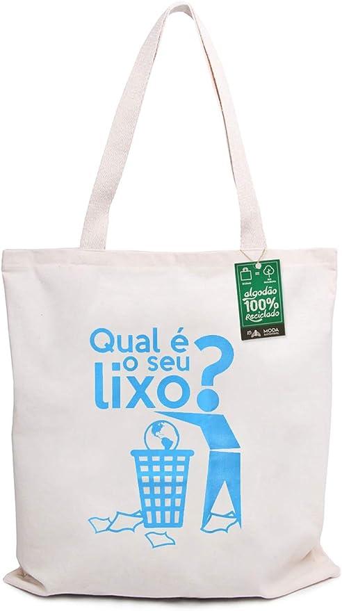 Ecobag 100% Algodão Reciclado Qual é o seu lixo