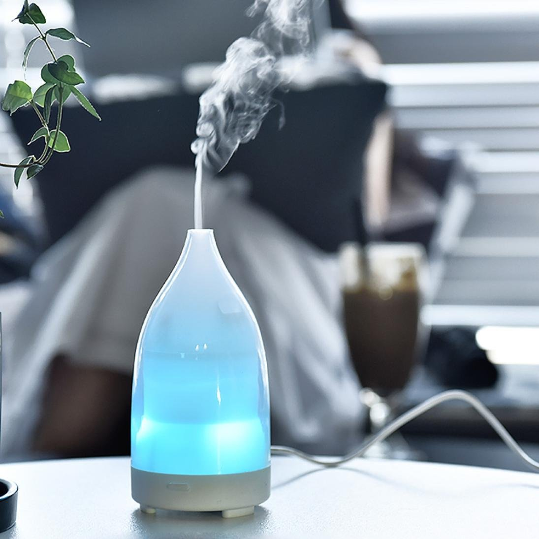 TAOtTAO USB Colorful Night Light Humidifier Aroma Air Diffuser Mist Maker (A)