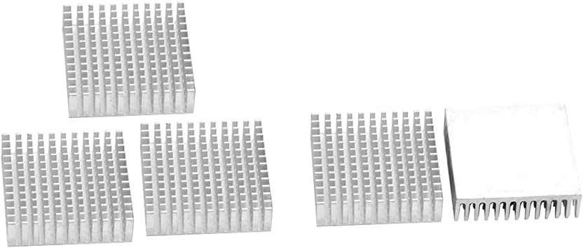 10pcs 40x40x11mm Silver Aluminium Heat Sink Cooling Fin Radiator Heatsink