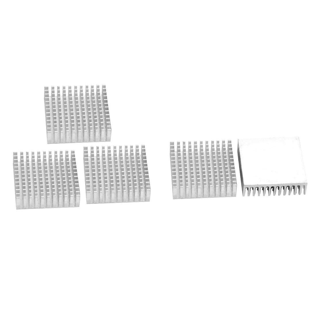 sourcingmap® Ailettes refroidissement Dissipateur Aluminium ton argent refroidisseur 40mm x 40mm x 11mm 5 pcs sourcing map a16080300ux0151