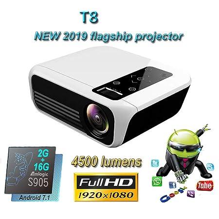 LIBWX El más Nuevo proyector T8 Full HD, Opcional Android ...