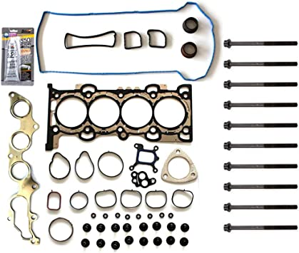 ECCPP Engine Head Gasket Set w//Bolts fit 09-13 for Ford Escape for Ford Fusion for Mazda 3 for Mazda 5 for Mazda 6 Mazda CX-7 for Mercury Mariner Mercury Milan for Gaskets Kit