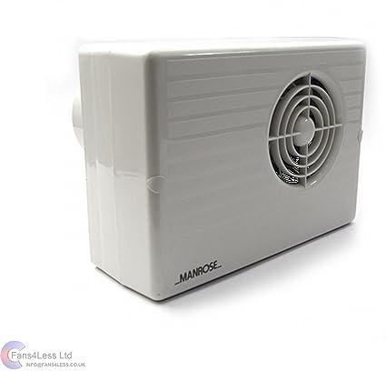Powerful Bathroom Extractor Fan >> Manrose Cf200t Centrifugal Extractor Fan With Timer Bathroom Shower Powerful