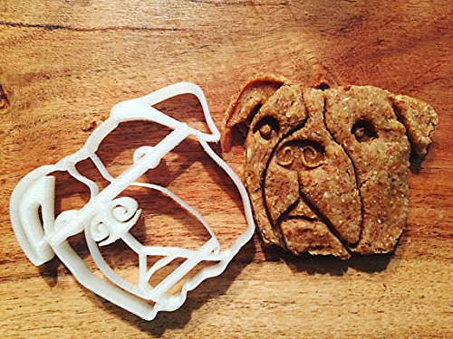 (Bucc the Pitbull Cookie Cutter and Dog Treat Cutter - Dog Face )