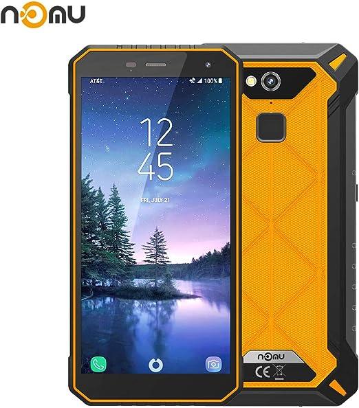 Teléfono Robusto Móviles, Nomu S50 Pro IP68 Teléfonos Exteriores Resistentes Internacional Desbloqueado 5.72 Pulgadas FHD Android 8.1 4G LTE Dual Sim 4G RAM 64 ROM 8.0MP + 16.0MP Cámara Dual (Naranja): Amazon.es: Electrónica
