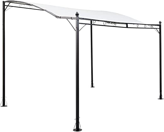 Blumfeldt Allure Pérgola - Carpa Parasol de diseño, Recubrimiento Impermeable, Marquesina de Techo Estable, 300x245cm, Pearl White: Amazon.es: Jardín