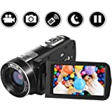 "SEREE camcorder Video Camera Full HD 1080p Digital Camera 24.0MP 18x Digital Zoom 3.0"" LCD 270° Rotation Screen with Remote Control"