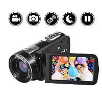 "Camescope Camera Video Full HD 1080p Caméra Vidéo 24.0MP 18x Zoom Numérique 3.0 ""LCD 270 ° Rotation écran avec télécommande"