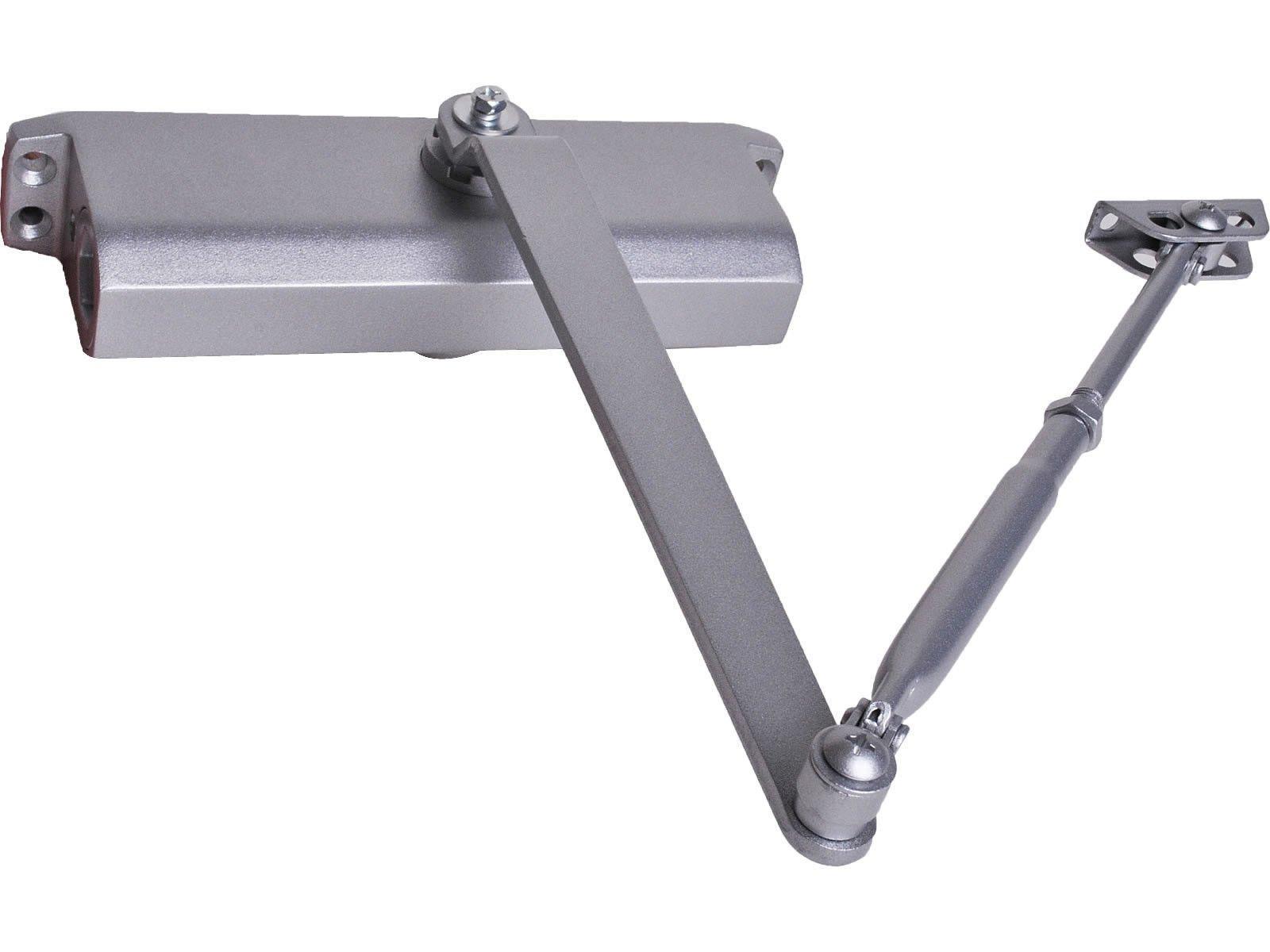 Super buy Size 4 Commercial Door Closer 65-85 kgs Silver Aluminium Alloy