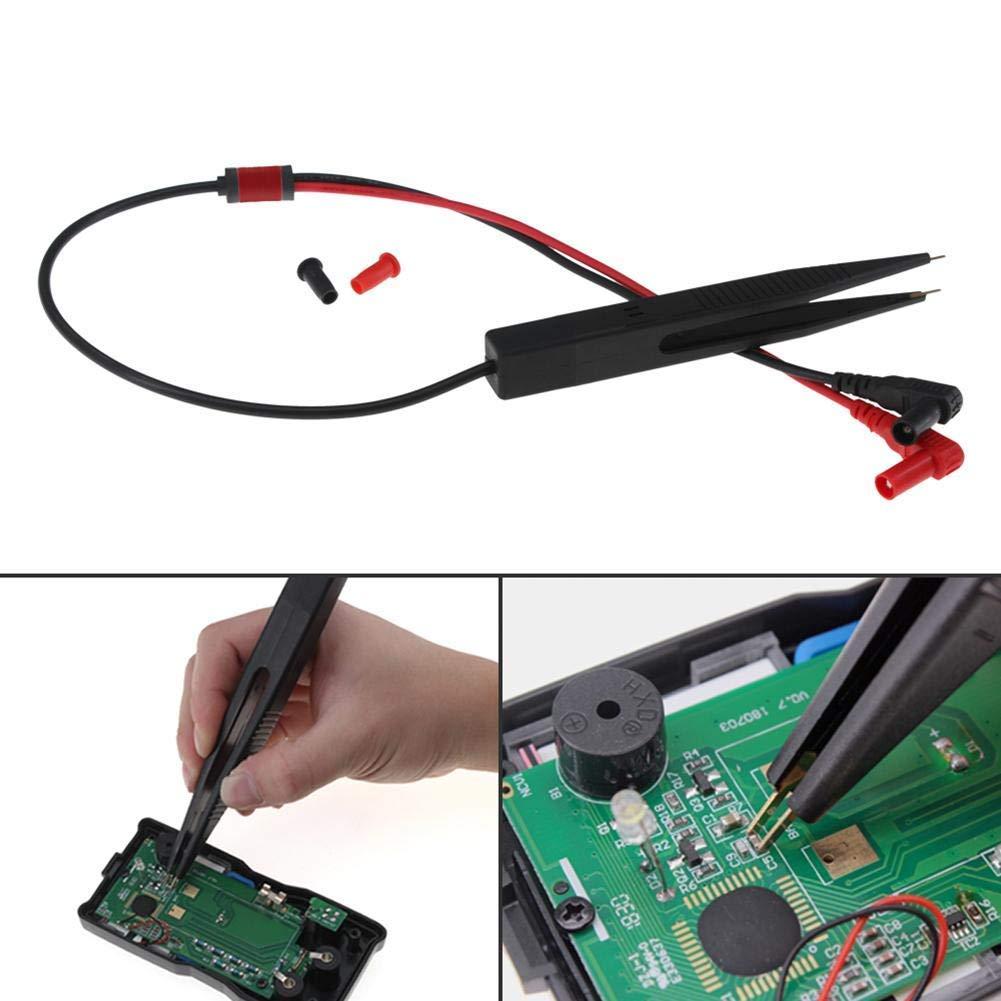 Ogquaton Sonda de mult/ímetro de 250 V Medidor de Clip de Prueba de Inductor SMD Puntas de Cable para Condensador de mult/ímetro de Resistencia