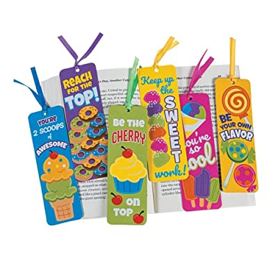 Fun Express Sweet Treat Laminated Bookmarks - 48 Pieces - Educational and Learning Activities for Kids: Toys & Games