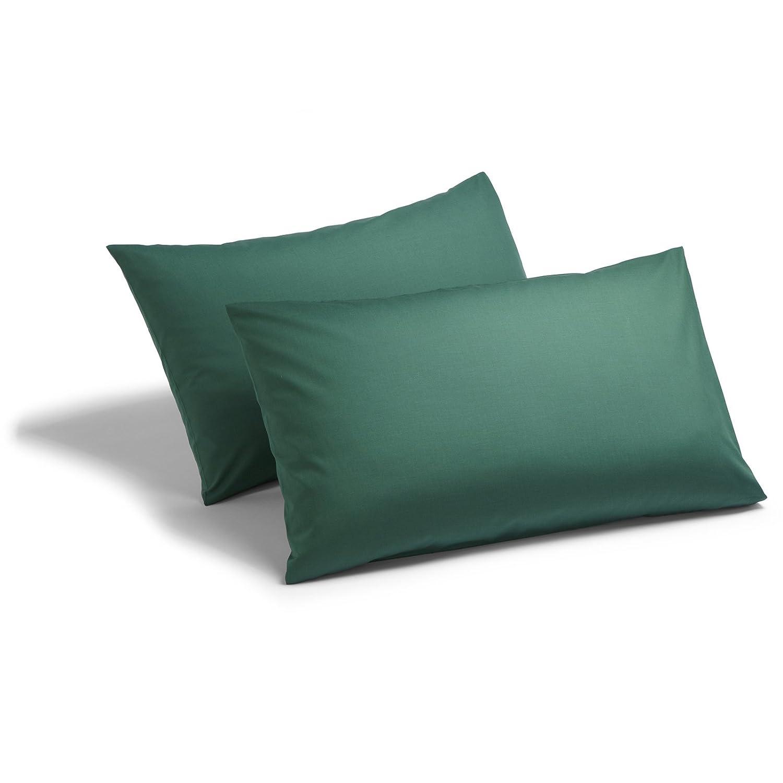 Charlotte Thomas Poetry Bottle Green Plain Dyed Bed Linen Platform Valance Sheet