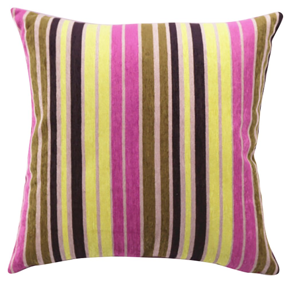 Striped Patterned Stuffed Cushion ChezMax Zippered Chenille Throw Pillow Insert Square Decorative CM-HT-PCJC-A-03-3045-PCPPCF