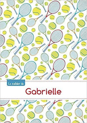 Lire un Le cahier de Gabrielle - Petits carreaux, 96p, A5 - Tennis pdf epub