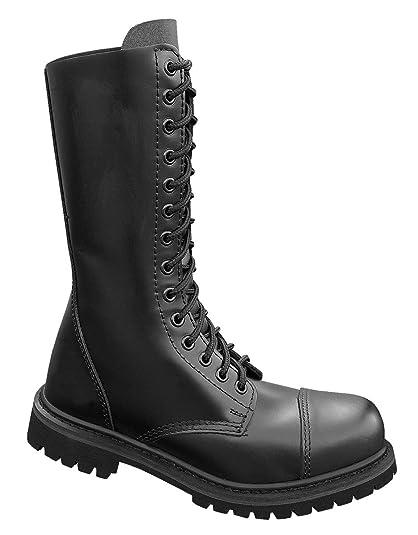 d46941234e4261 Mil-Tec - Invader 14 Loch Stiefel Boots Schwarz Stahlkappe Leder Schuhe  Ranger Größe 38 (GB 4)  Amazon.co.uk  Shoes   Bags