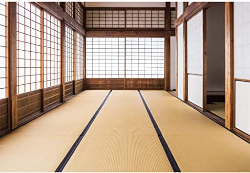 Amazon Com Yongfoto 8x6ft Japan Traditional Residence Backdrop Japanese Style Bedroom Photography Background Empty Room Yellow Floor Interior Decoration Kids Adult Portrait Photo Studio Props Wallpaper Camera Photo