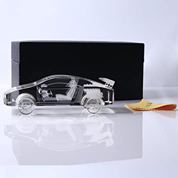 YWHL Crystal Car Model Statue And Figurines Paperweight For Home Decor/  Office Decorationfor/ Valentines