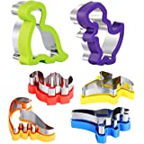 Dinosaur Cookie Cutters Set - Stainless Steel Shaped Cookie Candy Food Cutters Molds for DIY, Kitchen, Baking, Kids Dinosaur