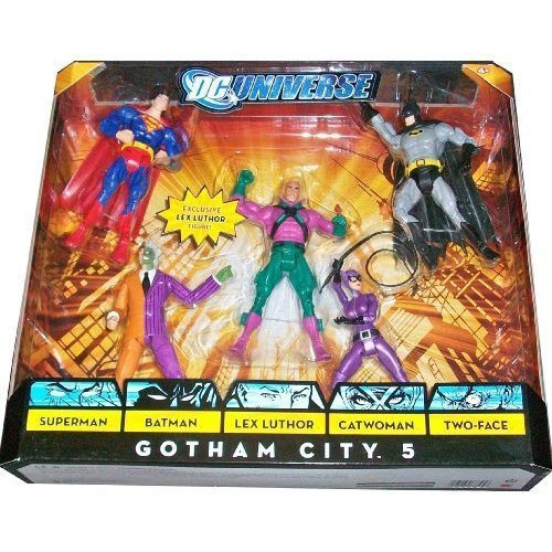 [DC Universe Classics Exclusive Action Figure 5-Pack Gotham City 5 (Superman, Batman, Lex Luthor, Catwoman and Two-Face)] (Adult Classic Catwoman Costumes)