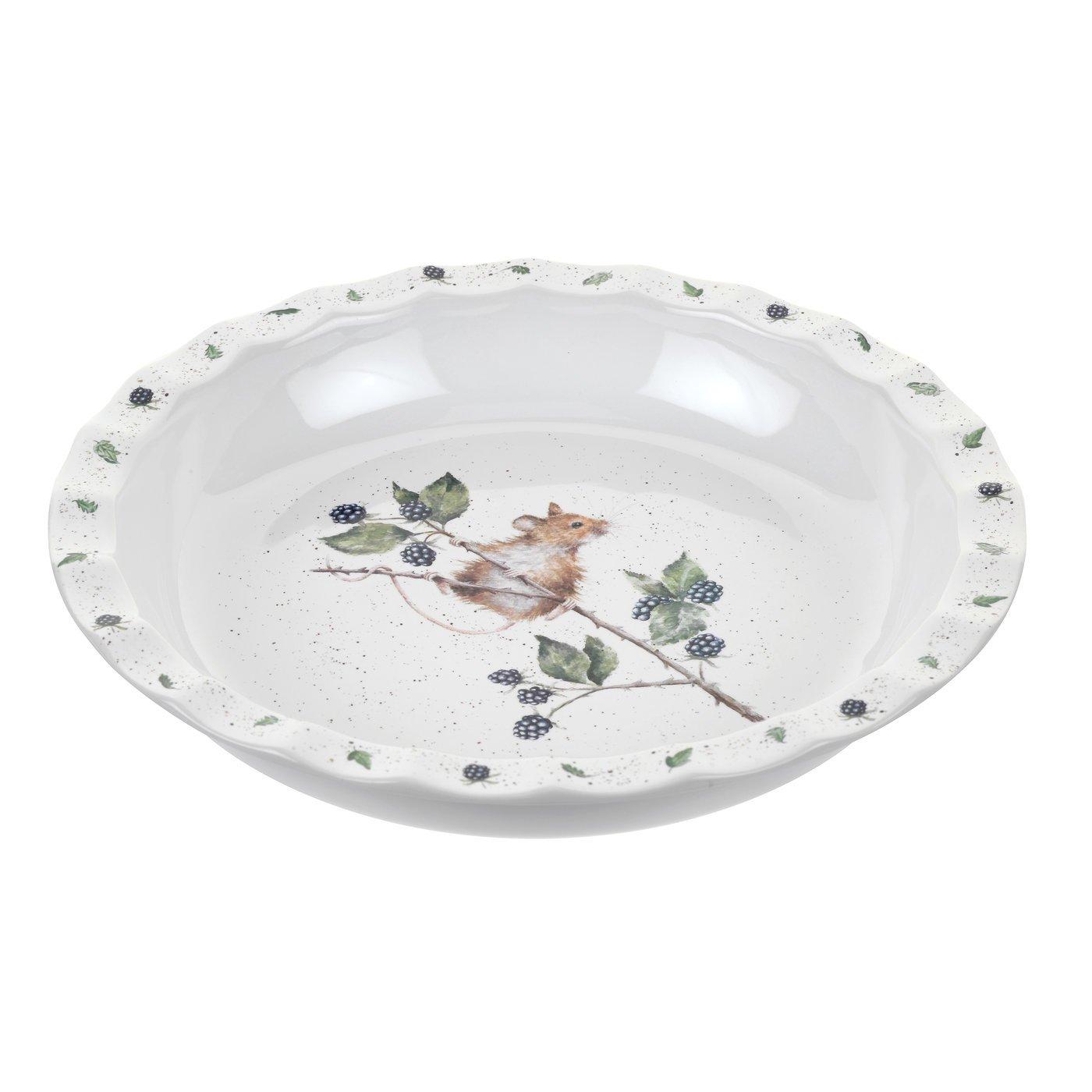 Wrendale Pie Dish (Mouse), Bone China, Multi Coloured, 27.5 x 27.5 x 4.5 cm Royal Worcester WN4028-XL