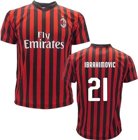 BrolloGroup Maglia Milan Zlatan Ibrahimovic Maglietta AC