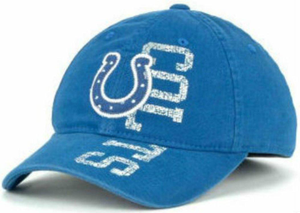 Indianapolis Coltsサニベルフレックスフィット帽子サイズL / XL最適にフィットキャップ7 1 / 4 – 7 3 / 4   B073SHL27F