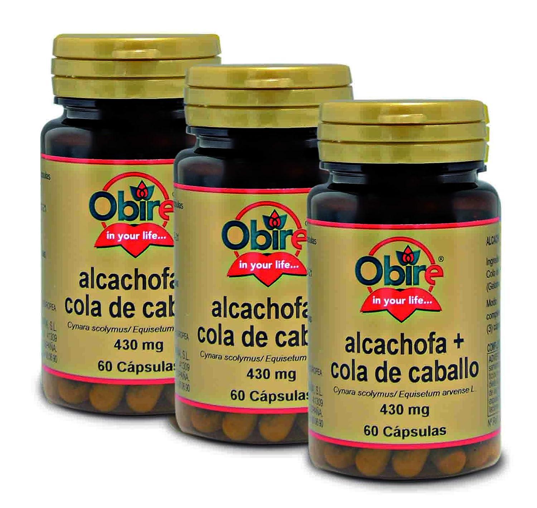 Alcachofa + Cola de caballo 430 mg. 60 capsulas (2 Unidades ...
