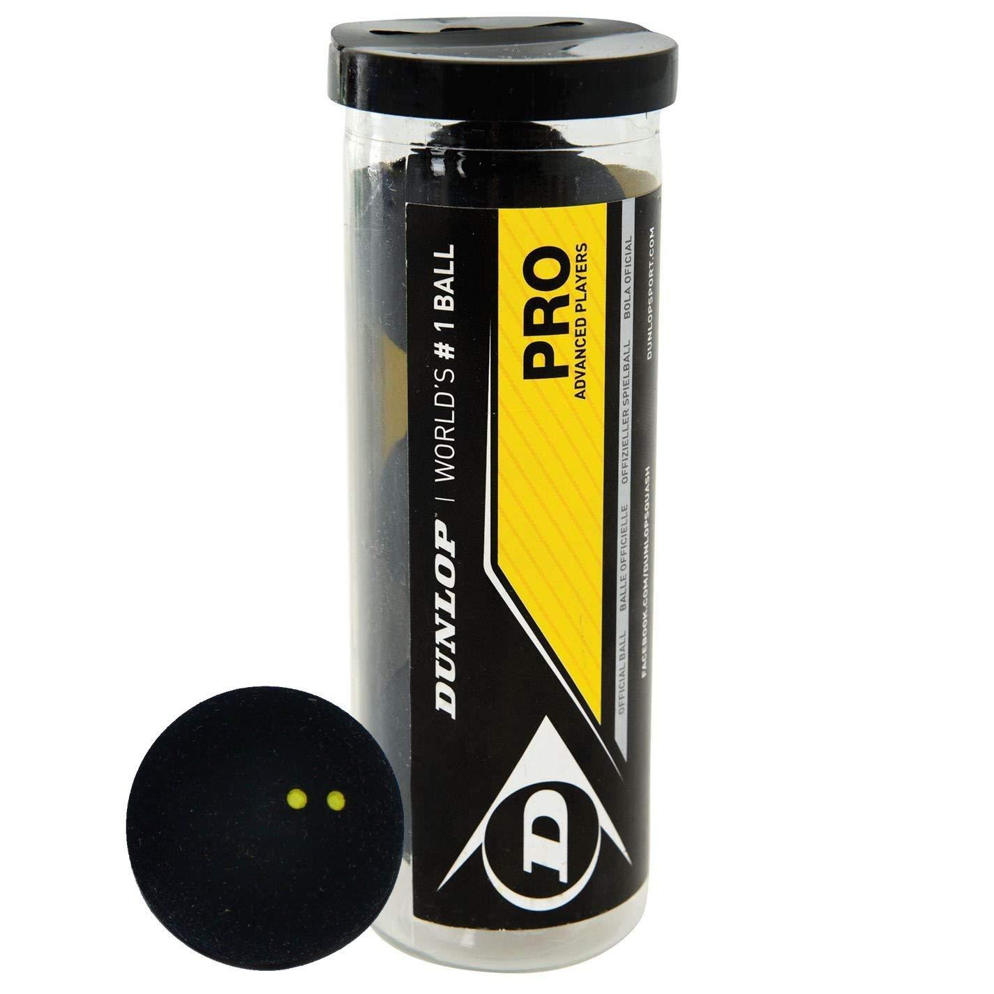 Dunlop Pro Lot de 3 balles de squash