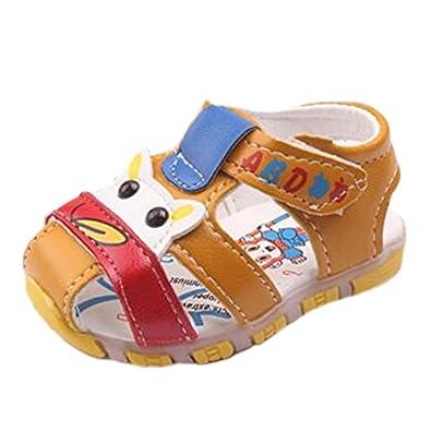 a6853104104d2 OHmais Enfants Chaussure Bebe Fille Premier Pas Chaussure Premier Pas Bébé  Sandale en Cuir Souple  Amazon.fr  Chaussures et Sacs