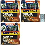 GlLLETTE Fusion Proglide Power Refill Cartridge Blades, 24 Count (3 Packs of 8) (Made in Germany) w/ Free Loving Care Trial Size Conditioner