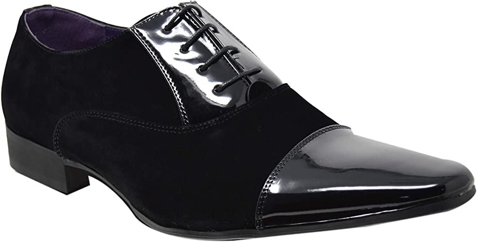 Mens Black Pointed Toe Leather Casual