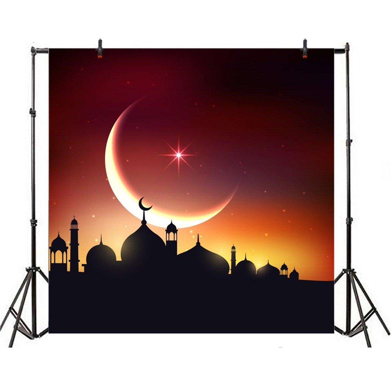 a37fbedccf3 Amazon.com  CSFOTO 8x8ft Background for Mosque Night Silhouette Photography  Backdrop Ramadan Muslim Islam Religion God Arabic Islamic Pray Arab Eid ...