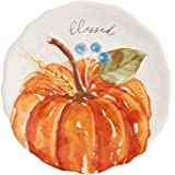 "Mud Pie Fall Salad Plate (Orange Pumpkin), 8"" dia"
